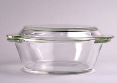Pyrex Glass Tableware Clear Glass Oven Bowls with Lid , 4 Sizes Heat Resistant Eco-friendly