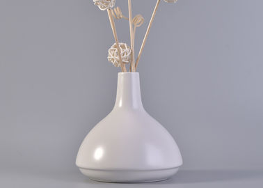 Popular White Ceramic Aroma Reed Diffuser Bottles For Home Decoration