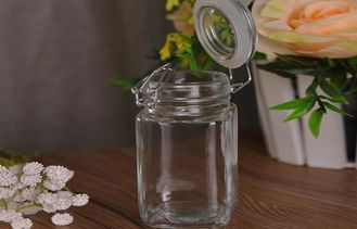 Airtight Glass Kitchen Storage Jars Container For Candy / Bean / Food