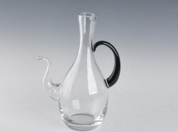 Refillable 4300ml Personalized Liquor Decanter With Handle For Red Wine Big Volume