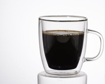 Hand Made Double Wall Borosilicate Glass Coffee Mugs / coffee glasses double walled