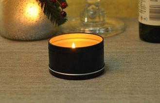 Tin Votive Candle Holders Heat Resistant , Metal Tin Containers For Candles