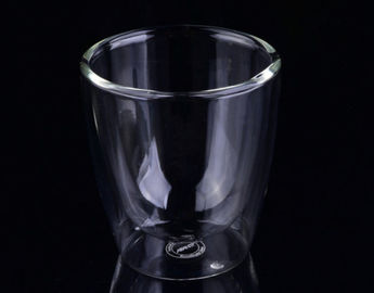 Custom Frosted Logo Borosilicate Double Layer Glass Coffee Cups For Gift