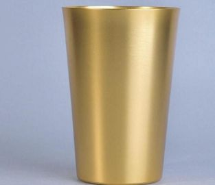Luxury Gold Metal Aluminum Candle Tin Containers Eco - Friendly For Decoration