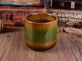 Classic Glazing Finish Ceramic Candle Holders Handmade For Household Decoration