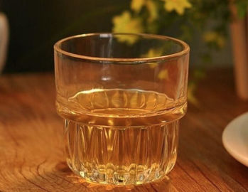 Machine Pressed 250ml Whiskey Tumbler Drinking Glasses , Glass Whiskey Tumblers