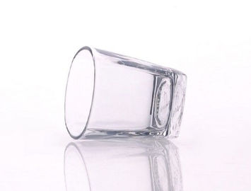 Food Safe Glass Whiskey Tumblers , Square Whiskey Glass Cup Decorative