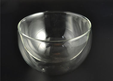 Recyclable Double Wall Borosilicate Glass / Double Wall Glass Bowl