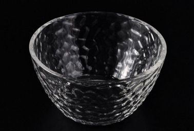 Decorative Glassware Bowls For Candle , Wide Mouth Galss Candle Container